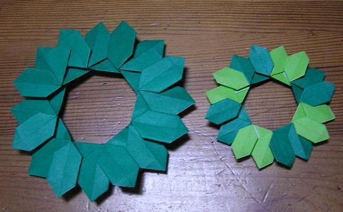 クリスマス 折り紙 折り紙 クリスマスリース : kinoomocha-daisuki.blog.so-net.ne.jp