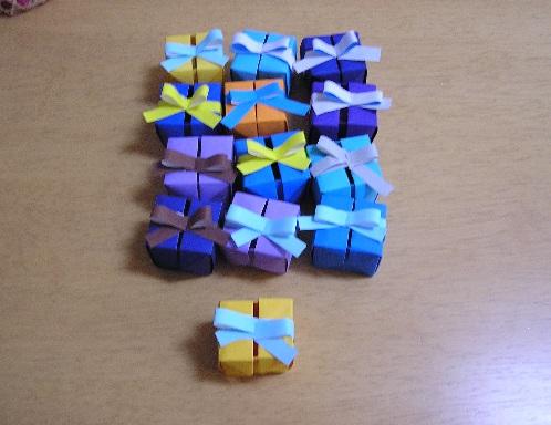この箱も、リボン以外の部分は ... : 折り紙 プレゼント 子ども : 折り紙